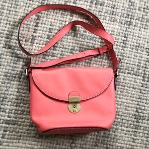 Kate Spade Saturday Coral Pink Leather Crossbody